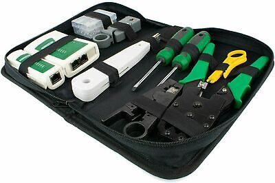 TESTER TOOL KIT | Networking RJ45 Connectors Crimper Punch Down Stripper Cable • 10.99£