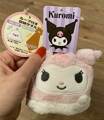 Kuromi Sanrio Towel Mascot So Kawaii Japan Japanese Hello Kitty • 12£