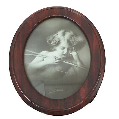 """$7 • Buy """"Cupid Asleep"""" In Oval Frame 9.5x8"""", Copyright 1897 By M. B. Parkinson's"""