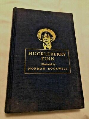 $ CDN12.70 • Buy Vintage Huckleberry Finn 1940 Heritage Press Illustrated By Norman Rockwell