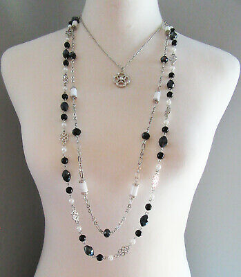 $ CDN6.31 • Buy Lia Sophia Jewelry My Girls Necklace In Silver With Genius Chasp RV$138