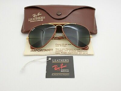 AU387.51 • Buy Vintage B&L Ray Ban Bausch & Lomb G15 Gray Outdoorsman Brown Leather 58mm W/Case