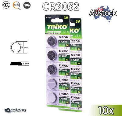AU5.75 • Buy 10x CR 2032 CR2032 Batteries Battery Cell Button Coin Lithium 3V For Watch