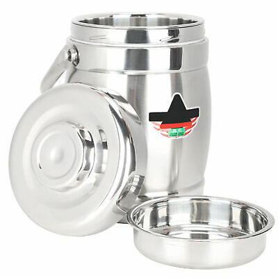 AU30.39 • Buy Vacuum Insulated Lunch Box Stainless Steel 3 Tier Jar Hot Thermos Food Container
