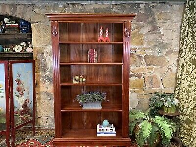 AU255 • Buy Vintage Antique Style Mahogany Bookcase~Display Cabinet~Home Office