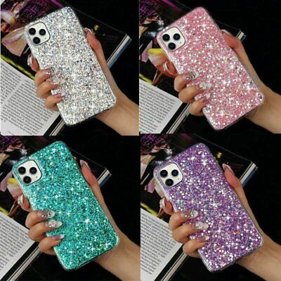 AU9.59 • Buy For IPhone 12 Pro Max 11 XS XR 7 8 Plus Bling Glitter Shockproof Case Soft Cover