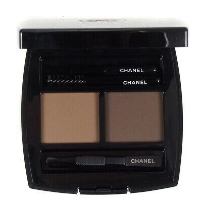 Chanel Brow Powder Duo 40 Naturel Eyebrow Defining Kit With Tweezers & Brush New • 37.75£