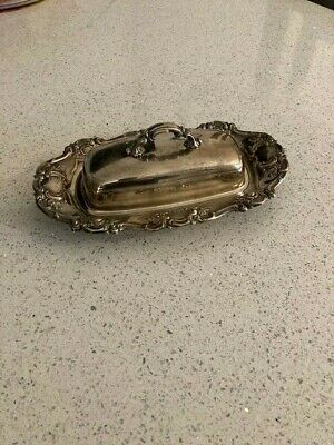 Antique Silver Plated Yeomam Butter Dish • 9.99£