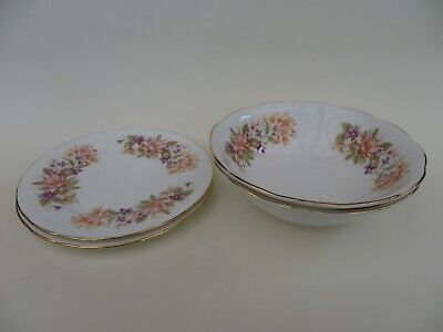 £14.50 • Buy Colclough Bone China  Wayside  16cm Side Plate X 2 & 2 Cereal/Soup Bowls.