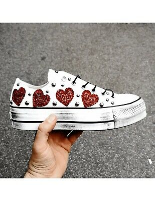 CONVERSE All Star Platform Low Sphere Hearts Personalized • 138.72£