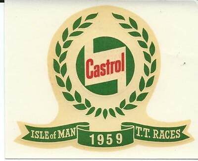 Original. Isle Of Man. Manx. Tt Races. 1959. Decal. Castrol. Sticker. Mgp. Ugp. • 6.50£