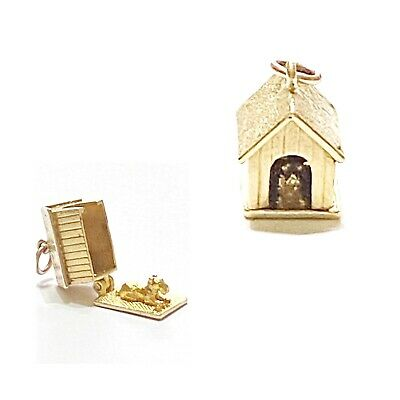 £210 • Buy 9ct 375 Vintage Gold Dog In Doghouse Charm