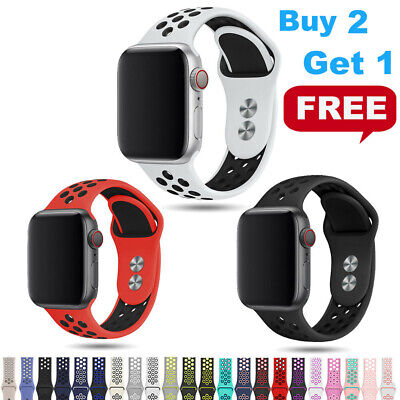 $ CDN4.70 • Buy For IWatch Silicone Band Sport Strap 38/40/42/44mm Apple Watch Series 6 5 4-1 SE