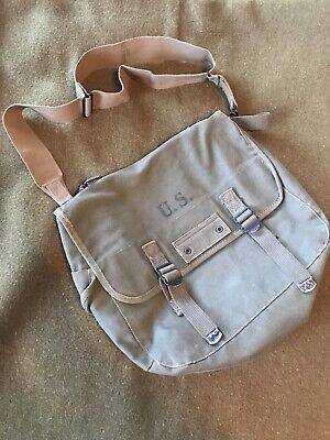 $70 • Buy WWII G.I. M-1936 Mussette Bag 1945 Dated W/strap (Good Condition!)