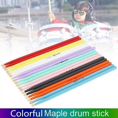 AU6.28 • Buy Maple Wood Drum Sticks Drumstick 7A For Drum Lovers Accessory Multiple Color