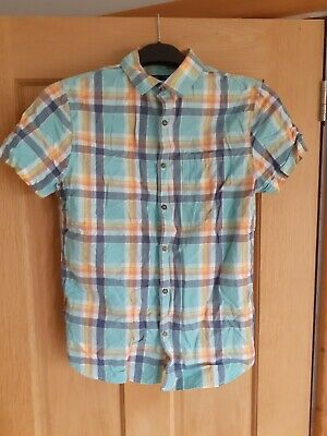 Boys NEXT Checked Short Sleeve Shirt - 14 Years • 3£