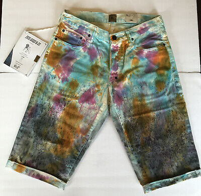 Prps Demon Demin Shorts Paint Modern Graffati Mens Size 32 Sample 2015 • 91.20£