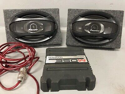 AU99 • Buy Pioneer 6x9 Car Speakers In Box With Kenwood Amp Very Good Condition