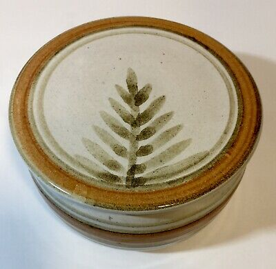 Ceramic Pottery Butter Bell Wheat Or Tree Pattern • 25.77£