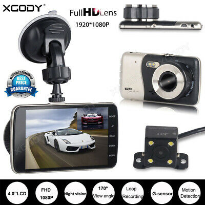 AU31.99 • Buy XGODY 4  1080P FHD Dash Cam Dual Lens Car DVR Front & Rear Camera Video Recorder