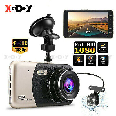 AU33.99 • Buy XGODY 4  1080P FHD Dash Cam Dual Lens Car DVR Front & Rear Camera Video Recorder