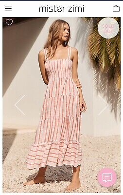 AU170.50 • Buy Mister Zimi Size 8 Savannah Dress In Pink Stripe BNWT ***SOLD OUT Style***