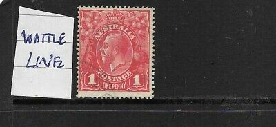 AU4 • Buy STAMPS   AUST KGV   1d RED  FINE USED  VARIETY   WATTLE LINE