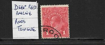 AU6.50 • Buy STAMPS   AUST KGV   1d DEEP RED ANILINE  VARIETY ROOS TONGUE FINE USED