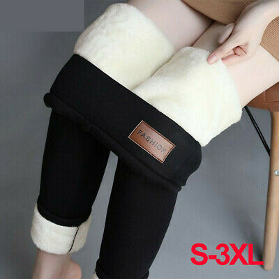 £9.69 • Buy Womens Thick Winter Thermal Leggings Fleece Lined Warm High Waist Pants Trousers