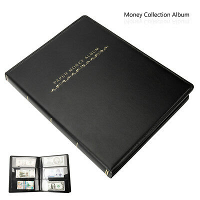 £11.59 • Buy 60 Pockets Banknote Album Sleeves Paper Money Collection Stamp Soft Leather Book