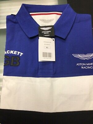 HACKETT ASTON MARTIN RACING POLO HM560658/5AR XX-LARGE NEW Free UK Ship • 34.99£