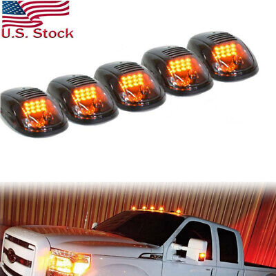 $45 • Buy 5X Amber LED Cab Roof Top Marker Lights For Chevrolet Silverado 1500 2500 3500