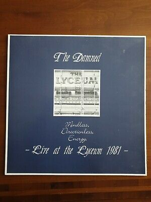 The Damned Mindless Directionless Energy Live At The Lyceum 1981 12  Uk Vinyl • 17.50£