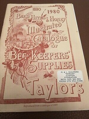 Bees Hives Honey Illustrated Catalogue. Bee Keepers Taylors • 3£