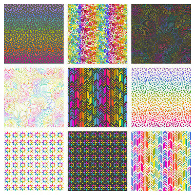 £6.99 • Buy ART THEORY By Alison Glass 100% Cotton Fabric - RAINBOW Sewing, Quilting,