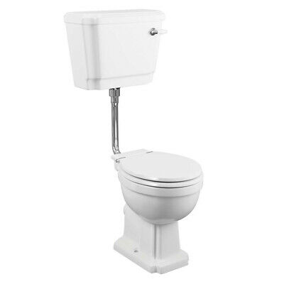 £251.95 • Buy Synergy Henbury Low Level Toilet With Lever Cistern - Soft Close Seat