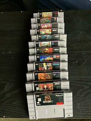 $ CDN248.35 • Buy Snes Lot 12 Lost Viking,Hook,Mortal Kombat 123 More Working Tested Authentic!!