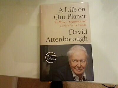 SIGNED SIR DAVID ATTENBOROUGH (A Life On Our Planet ) Mint  • 66£
