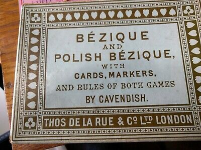 BEZIQUE And POLISH BEZIQUE Card Game With Score Cards And Instructions • 3.50£