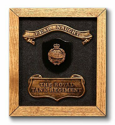 Royal Tank Regiment. Military British Army Wall Plaque Gift Present Armoured Dad • 21.99£