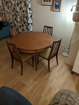 G Plan Dining Table And Chairs. Extending Retro, Mid Century. • 53£