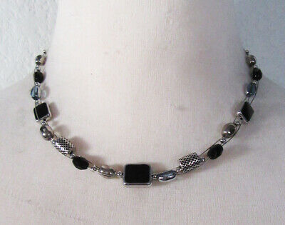 $ CDN0.13 • Buy Lia Sophia Jewelry High Strung Glass & Resin Beads Necklace In Silver RV$42