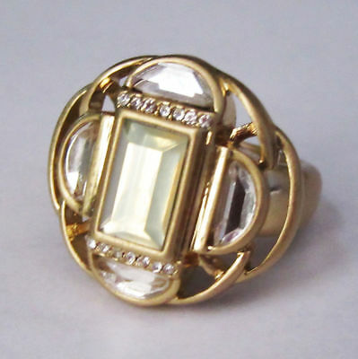 $ CDN2.87 • Buy M124 Lia Sophia Jewelry Compass Ring Size 9 RARE And Gorgeous In Gold RV$98