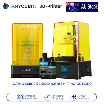 AU359 • Buy ANYCUBIC LCD 3D Printer Photon Mono / Wash & Cure 2.0 + 500g / 1KG Random Resin