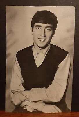 Old Eskimo Foods Collector Postcard Style Picture Card - John Lennon The Beatles • 2.50£