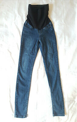 Seraphine Over Bump Skinny Fit Maternity Jeans - Size 8 Blue  • 2£