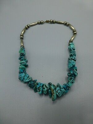 Native American Necklace Silver Turquoise  • 60£