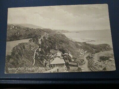 Postcard Of Ventnor From Steephill Cove, Isle Of Wight (1910 Posted) • 1.49£