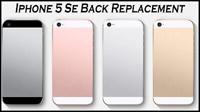 £3.99 • Buy IPhone 5 Se Metal Frame Back Chassis Housing Rear Glass Cover Replacement | UK