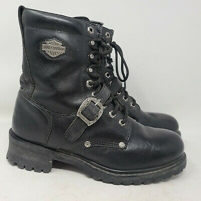 $ CDN45.56 • Buy Harley Davidson Mens Size 9 Black Motorcycle Boots Faded Glory Eight Inch